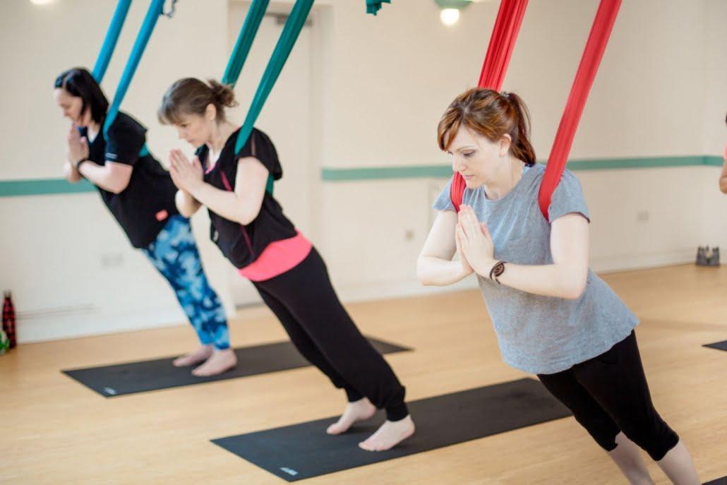 Aerial Yoga fun at Tring Yoga Studios_24