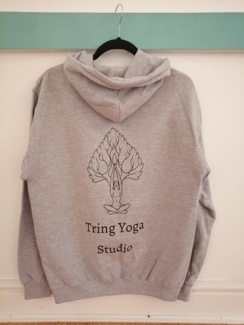Yoga Hoodie clothing grey
