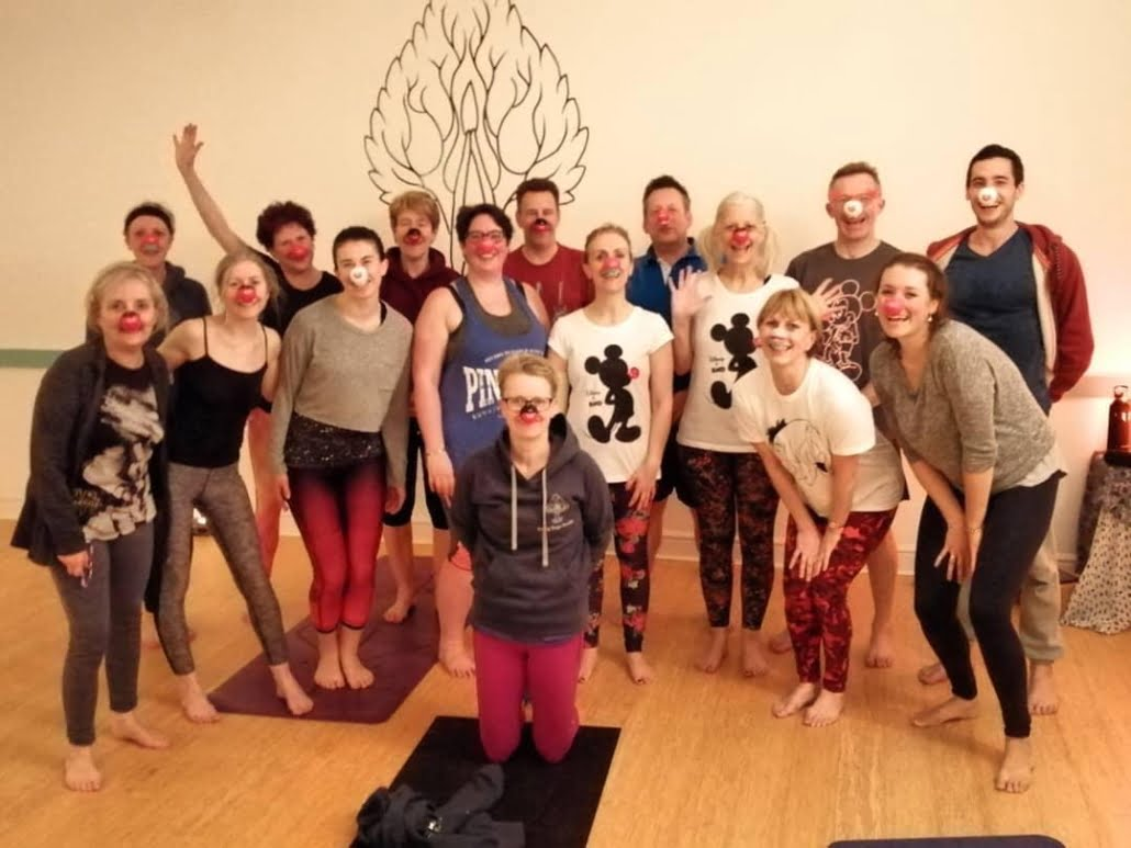 Red Nose charity Yoga Class Tring