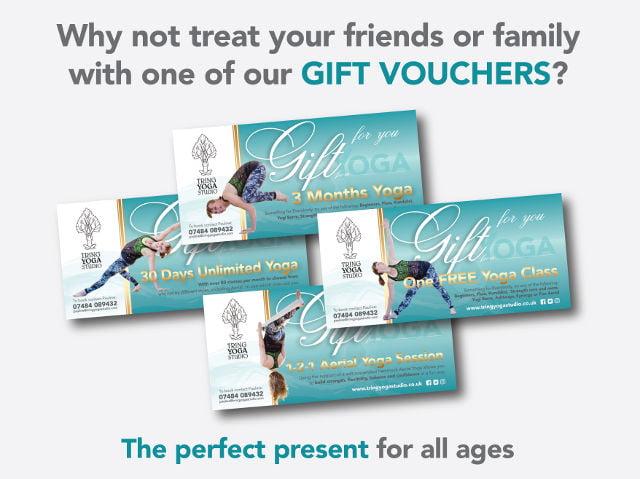 YOGA Gift Vouchers - The Perfect Yoga Present
